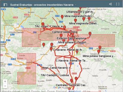 Nafarroako ingurumen gatazken mapa: zenbat daude eta non kokatzen dira?