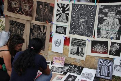 Artea eta iraultza EZLNk antolaturiko CompArte festibalean, Txiapasen