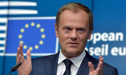 Migrazio-kontrolak estutzearekin lotu du EBren etorkizuna Europar Kontseiluko presidenteak