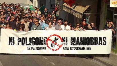 Bardeako poligonoaren kontrako mobilizazioa. (Argazkia: Euskalerria Irratia)