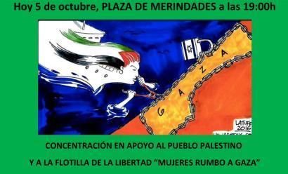 Kontzentrazioak deitu dituzte Gazako blokeoaren aurka Euskal Herrian ere