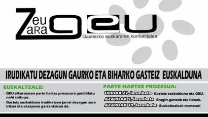 Gasteizko euskararen etorkizunaz hausnartuko du Geu elkarteak