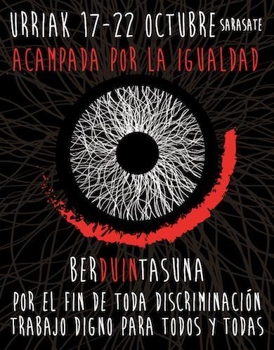 Lan duinaren aldeko 'BerDuintasuna' kanpaldia egiten ari dira Iruñean