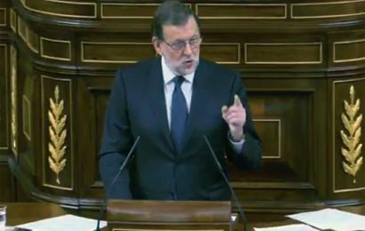 Rajoy oraingoz LOMCEren azterketak indargabetuko dituztela iragarri duen momentuan.