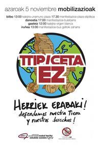 TTIP eta CETA akordioen aurkako mobilizazioak larunbatean Hego EHko hiriburuetan