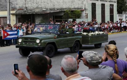 """""""Askatasunaren Karabana"""" Santiagora bidean da Fidel Castroren omenez"""