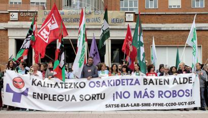 """Bizkaiko Osakidetzako ospitale nagusietan Larrialdi zerbitzuen """"kolapsoa"""" salatu dute sindikatuek"""