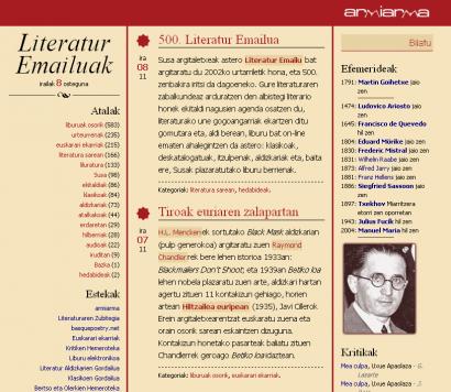 15 urtez astero literaturzaleen postontzi digitalean