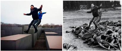 Holokaustoaren biktimei eskainitako monumentua: turistak irrigarri uzten dituen artista