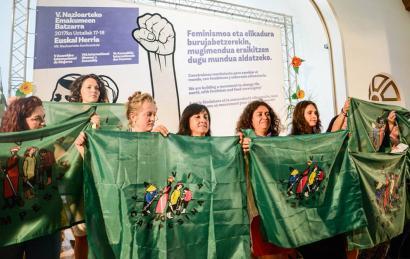 """""""Lehen aldiz hitz egin dugu nekazarien feminismoaz, eta hori historikoa da"""""""