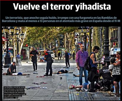 Abuztuaren 18an El Correo egunkariak kaleratuta azala.