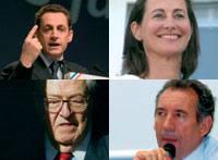 Sarkozy, Royal, Le Pen, Bayrou