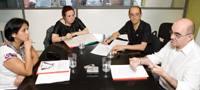 Mario Zapata, Victoria Mendoza, Maria Jesus Imaz eta Joseba Ibarra