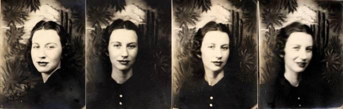 Anatol Josephok (1894-1980) fotomatoia asmatu eta lau urtera, 1930ean, Arizonako fotomatoi batean ateratako argazki sorta.