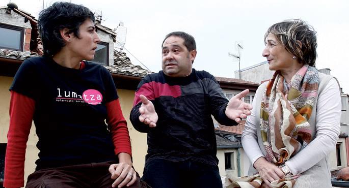 Paula Kasares, Oskar Zapata eta Sagrario Aleman.
