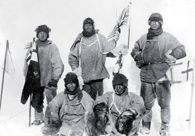 Espedizio britainiarra Hego Poloan. Goian, erdian, Scott kapitaina.