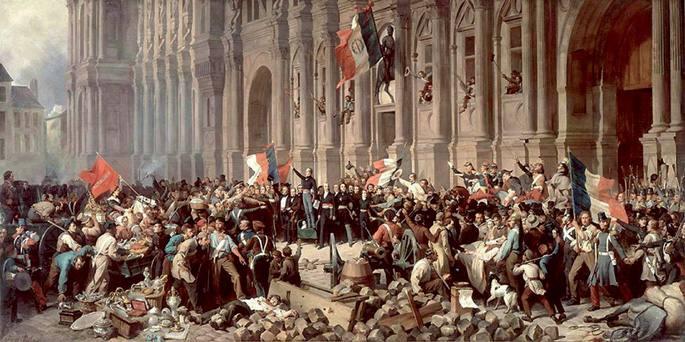 1848an hasi zen Frantzian Europan absolutismoarekin apurtu zuen errebolta katea,