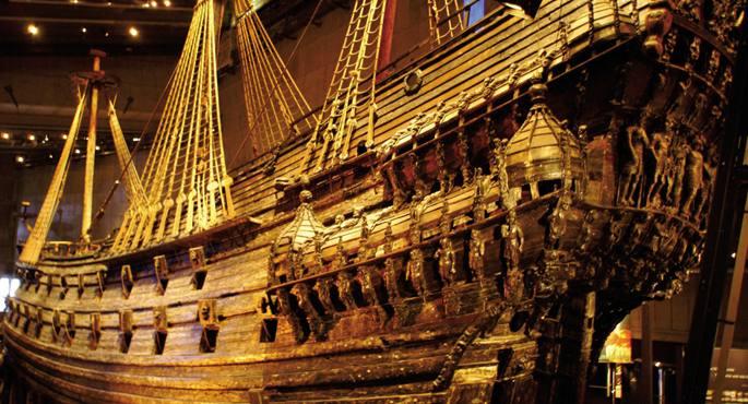 Vasa gerraontzi suediarra 1628an hondoratu zen, baina oso ondo kontserbatu zen, eta egun museo batean dago ikusgai.