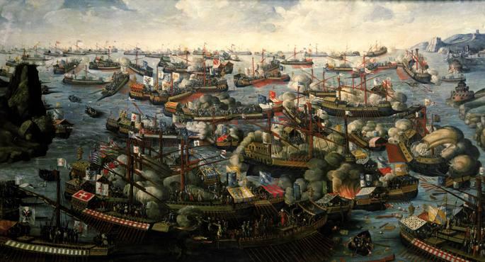 Lepantoko gudua (1571) galeren arteko historiako itsas gudurik handiena izan zen. Arraunean aritzen ziren gizonak ez ziren soldadu libreak, preso kondenatuak baizik.