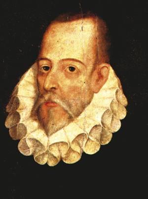 Miguel de Cervantes (1547-1616). 1605eko ekainean Gaspar Ezpeleta nafarra hil zuten Valladolideko kaleetan, eta idazle ezaguna susmagarritzat jo eta atxilotu egin zuten.