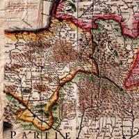 Nafarroa eta Biarnoako lurraldeak agertzen dituen 1642ko mapa, M. Tauernier-ena. Konkistatua izan ez balitz, Nafarroak edukiko lukeen irudia islatzen du nolabait.