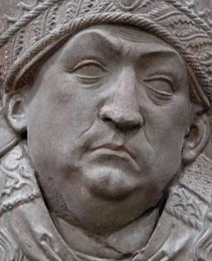 Johannes Trithemius (1462-1516). Bere hilobiko erliebearen xehetasuna, Neumünster-en (Alemania).