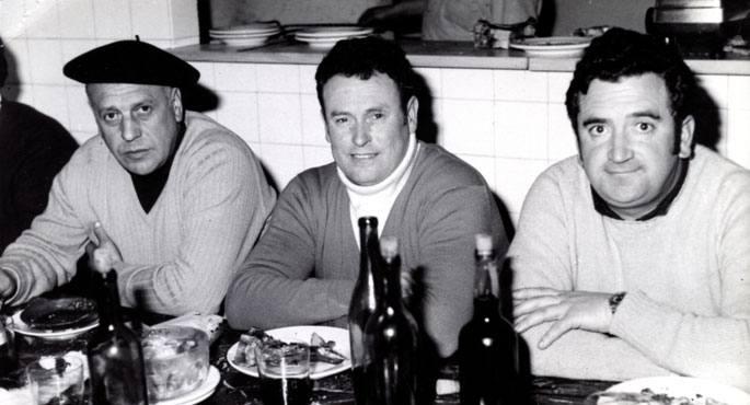 Joxe Lizaso, Joxe Agirre eta Imanol Lazkano. 80.hamarkadan plazetan nagusi izan zen Azpeitiko hirukotea.