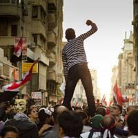 Iazko azaroan liskarrak Egipto osoan izan ziren. Irudian, protestak Alexandrian.
