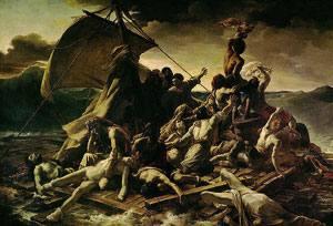 Méduseren baltsa (1818-19), Jean Louis Théodore Géricault. Frantziar erromantizismoaren koadro ezagunenetakoak bi urte lehenagoko benetako gertakizuna du oinarri.
