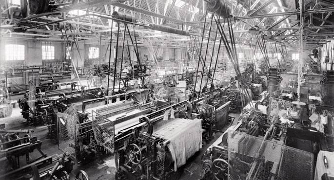 Kataluniako ehungintza fabrika 1911n.