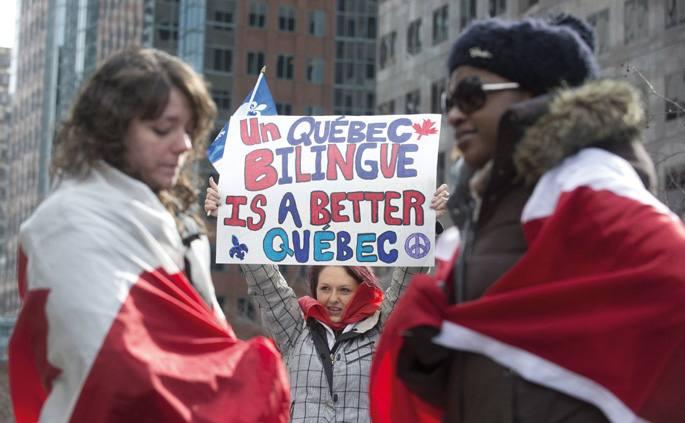 Kanadako elebitasunaren bi zutabe ahulak.