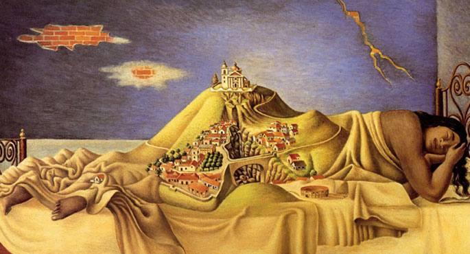 Malincheren ametsa (1939), Antonio Ruizen olio surrealista
