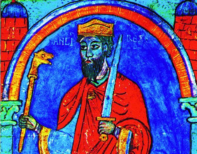 Antso I.a Leongoa  (c. 935-966), XII. mendeko miniatura baten arabera. Marrazkia erregea hil eta bi mende geroago egina da. Beraz, egileak ez zuen sekula Leongo erregea ikusi. Haren antza izatekotan, azken urteetakoa izango du, 959 baino lehen Antsok 220