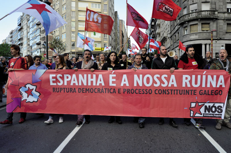 Nós-UP (Nós-Unidade Popular) erakunde independentistaren manifestazio bat.