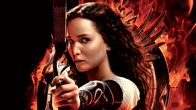 Jennifer Lawrence The Hunger Games: Catching Fire filmeko protagonistaren rolean.