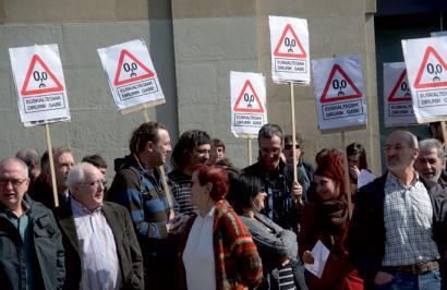 Nafarroako Gobernuaren erasoa salatzeko manifestaldia martxoaren 22an