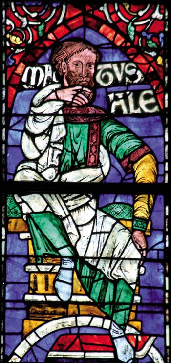 Matusalenen irudia Canterburyko katedraleko beirate batean.