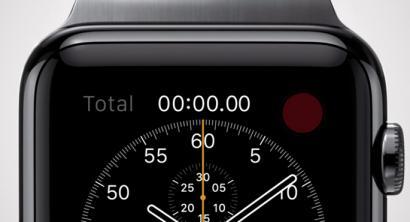 Apple Watch ordularia, osasuna negozioaren muinean