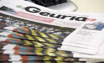 'Geuria' hilabetekaria eta webgunea abian dira Hego Uriben