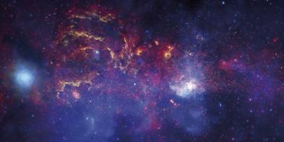 Biziaren oinarria izan litezkeen molekulak galaxiaren erdian