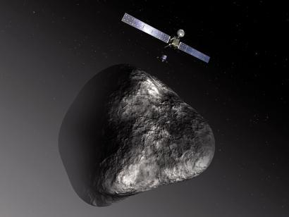Philae espazio moduluaren jauziak Tchuri kometan