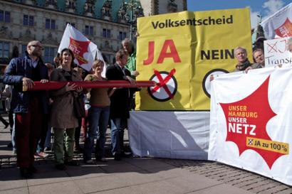 Pribatizatua irauli:  Hanburgok argindar sarea publiko egin du