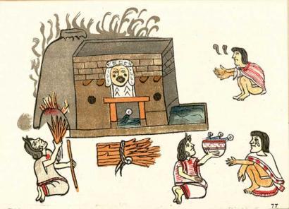 Aztekek ere lurrun-bainuak hartzen zituzten