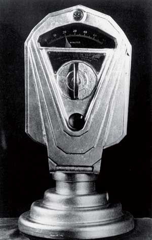 Oklahoma Hirian 1935ean jarritako lehen parkimetroetako bat.