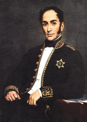 """Simon Bolivarrek (1783-1830) """"Venezuelatik Europako espainiarren arraza madarikatua deuseztatzeko"""" dekretua promulgatu zuen, 1813ko ekainean."""