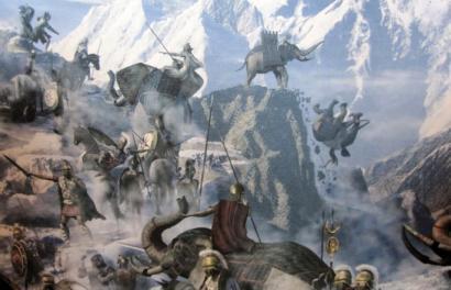Hanibalek Alpeak zeharkatzeko egin zuen ibilbidea argitu du mikrobiologiak