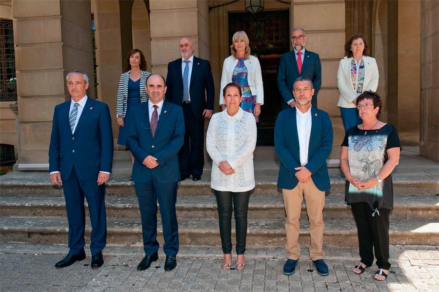 Nafarroako Gobernuaren aurkezpena 2015eko otsailean. (Argazkia: Navarra.es)