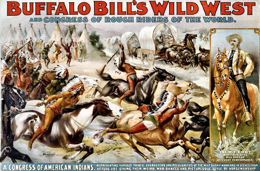 Buffalo Billen ikuskizunaren kartela. (Irudia: Rock Island Auction)