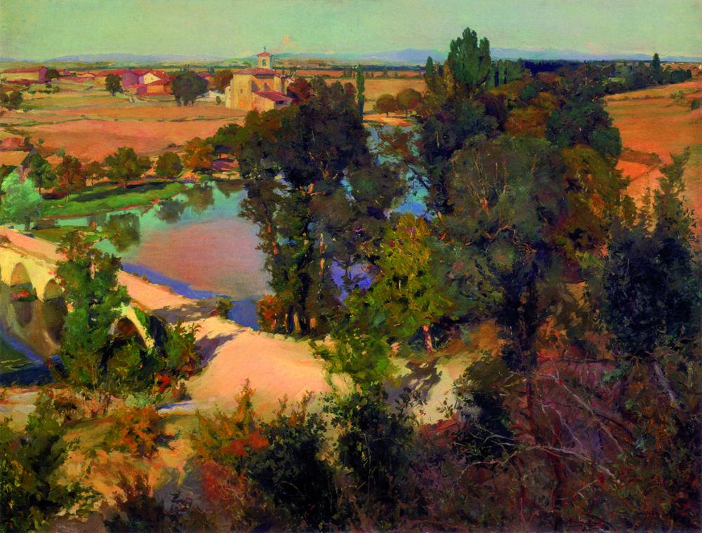 Iraileko arratsaldea  Zadorraren ertzean (1902 inguruan). Olioa oihalean. 110 x 145 cm.