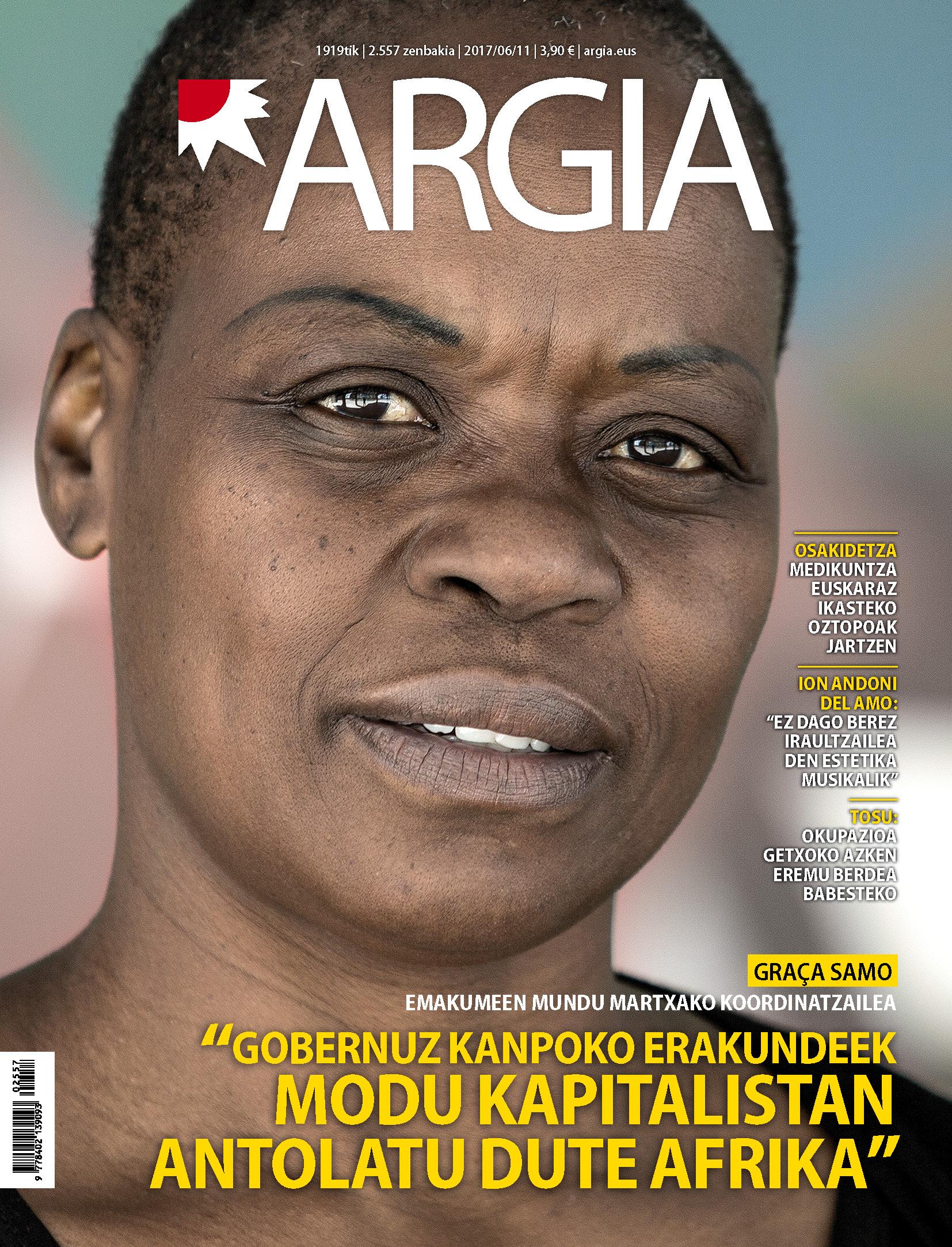ARGIA aldizkariaren azala